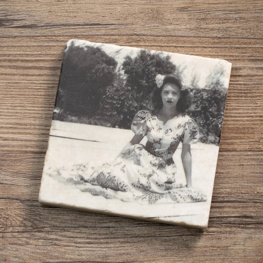 Woman Beauty - Marble Tile Coaster