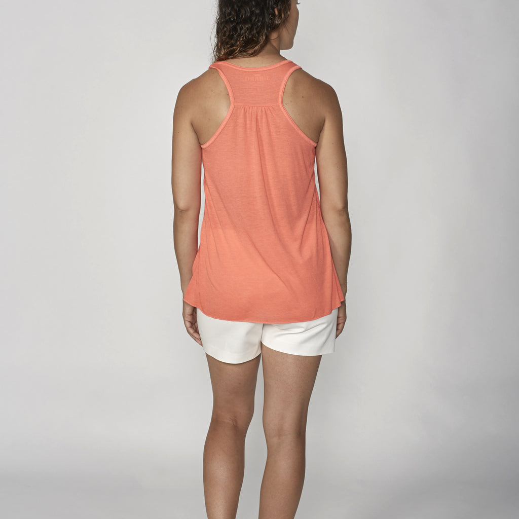 pr tank top coral flower