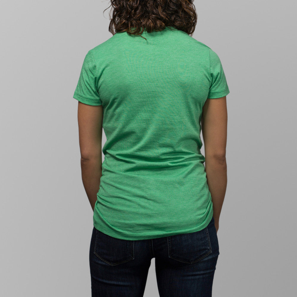 jibaro tshirt pr female green jibara back
