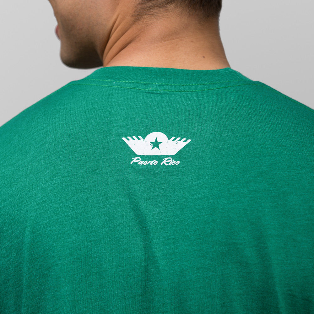 jibaro tee shirt pr male green back logo