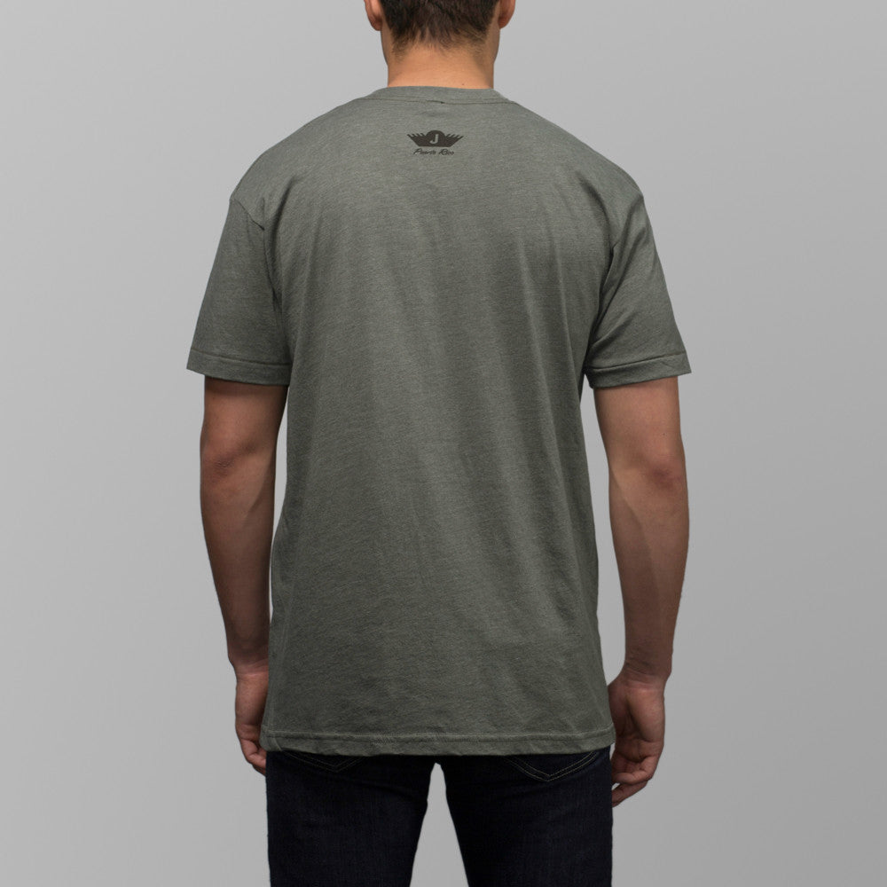 jibaro tshirt pr male military green coffee back