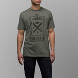 jibaro tshirt puerto rico male military green coffee front