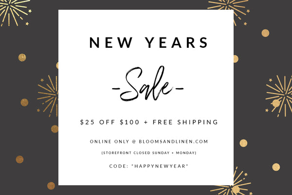Happy New Year // SALE