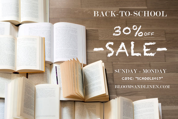 { Back to School | 30% Off Sale }
