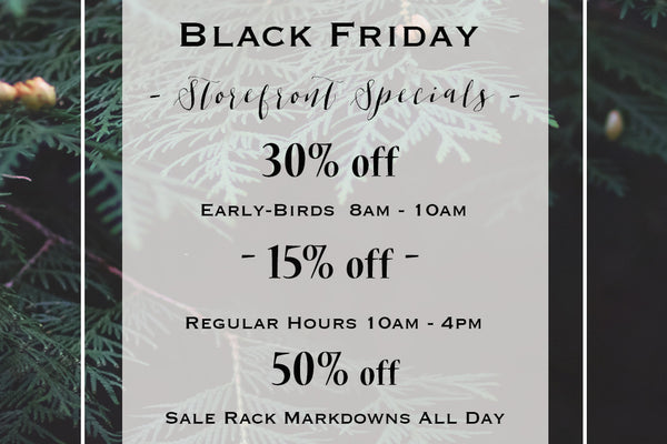{ Storefront | Black Friday Specials }
