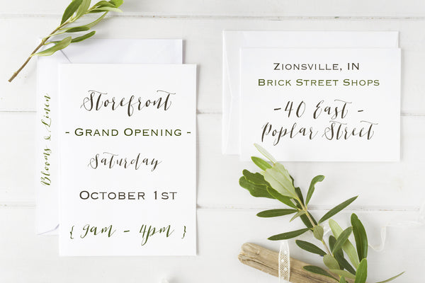{ Storefront Grand Opening | 10.1.16 }