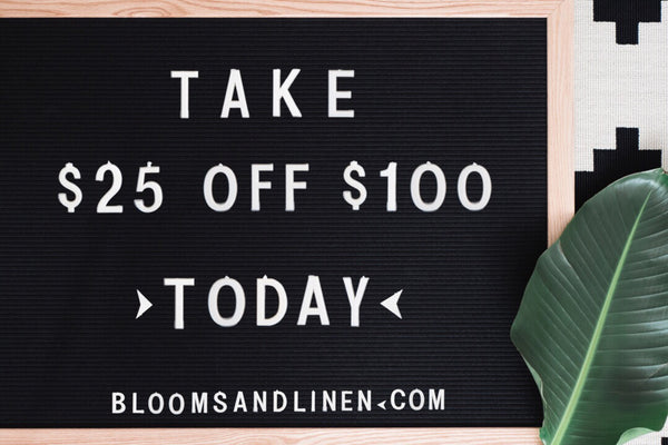 { Black Friday // $25 off $100 }