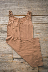 Brown Essential Everyday Long Tank