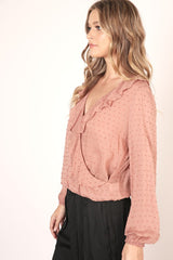 Frills & Blush Blouse