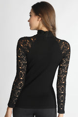 Audrina Lace Turtle Neck