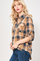 Miranda Plaid Top