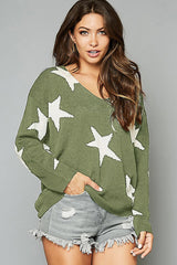 Minted Star Sweater