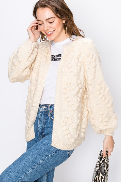 Luxe Open Pom Sweater