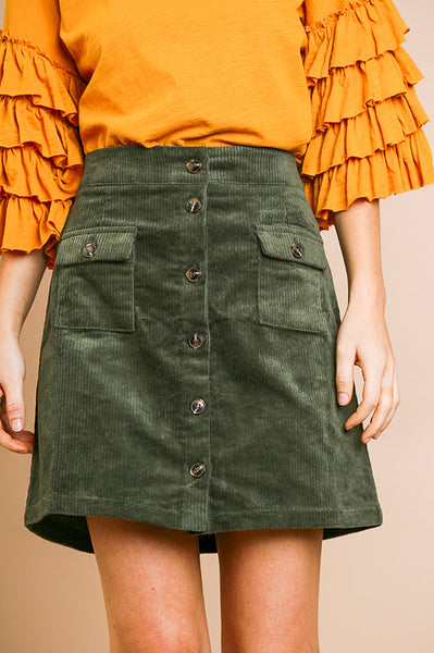 Hunter Corduroy Skirt