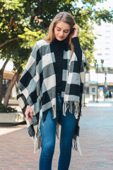 Buffalo Plaid Poncho Shawl