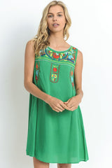 Puebla Embroidered Dress