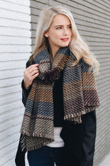 Basketweave Frayed Scarf