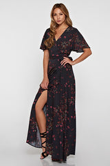 Autumn Flutter Wrap Dress