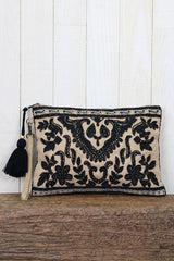 Paisley Beaded Clutch