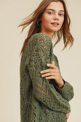 Pointelle Scallop Sweater