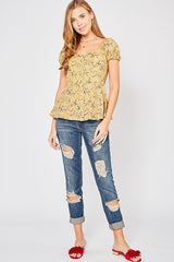 Vineyard Floral Top