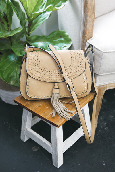 Taupe Cross Body Purse