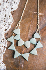 Rising Sun Mint Necklace