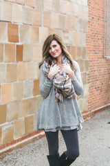 Chiffon Ruffled Sweater Tunic