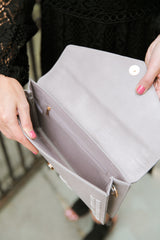 Grey Clutch Purse