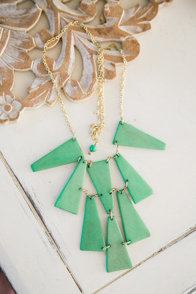 Emerald Trapeze Necklace
