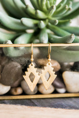 Golden Arrowhead Earrings