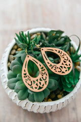 Filigree Wooden Earrings
