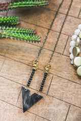 Horn + Gold Arrowhead Necklace