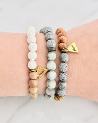 Jasper + Wood Essential Oil Bracelets
