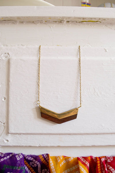 Point-of-View Wooden Necklace