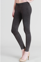 Charcoal Acid Wash Leggings