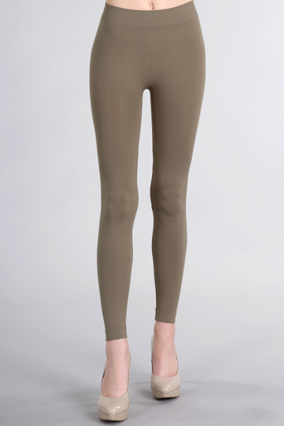 Taupe Ankle Length Leggings