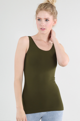 Olive Seamless Cami