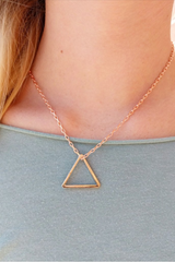 Rose Triangle Pendant