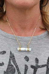 Magnesite Bar Necklace