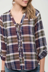 Charlotte Plaid Blouse
