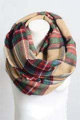 Holiday Infinity Plaid Scarf