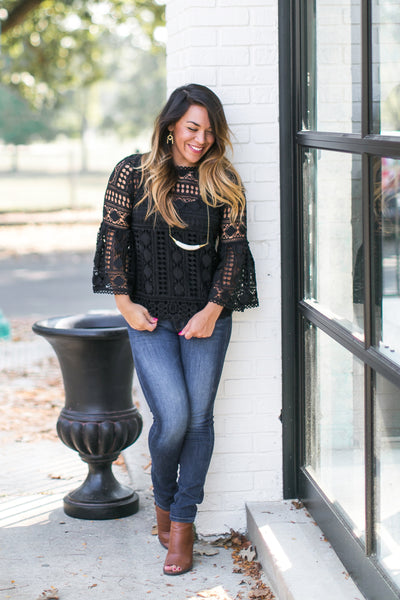 Midnight Laced Blouse