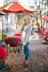 Peplum Crew Neck Sweater
