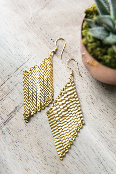 Layered Lines Gold Earrings