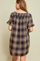 Mae Plaid Dress