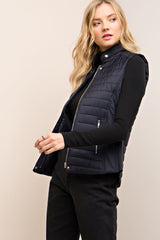 Navy Quilted Puff Vest
