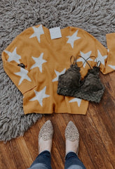 Mustard Star Sweater