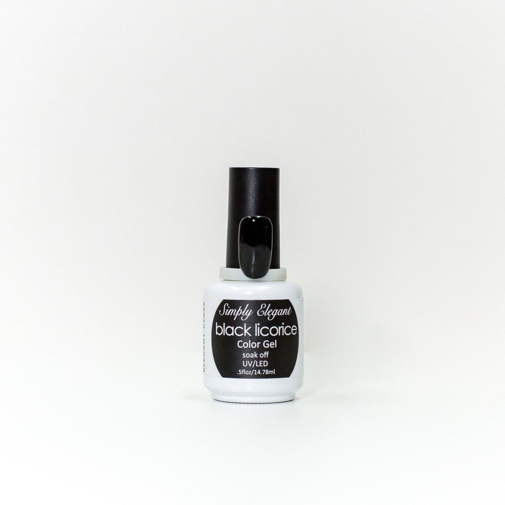 Black Licorice Gel Polish - Cordoza Nail Supply