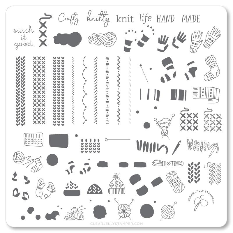 CJS Stamping Plate Crafty Life - Cordoza Nail Supply